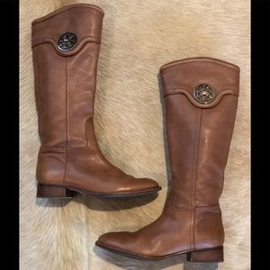 Tory Burch brown leather riding boots size 9